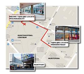 Plattegrond: Bib Muntpunt verhuist tijdelijk naar Wolvengracht
