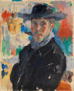 Zelfportret met sigaar (1913)
