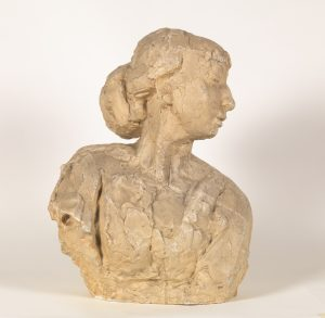 Gebogen buste met haarwrong (1909)