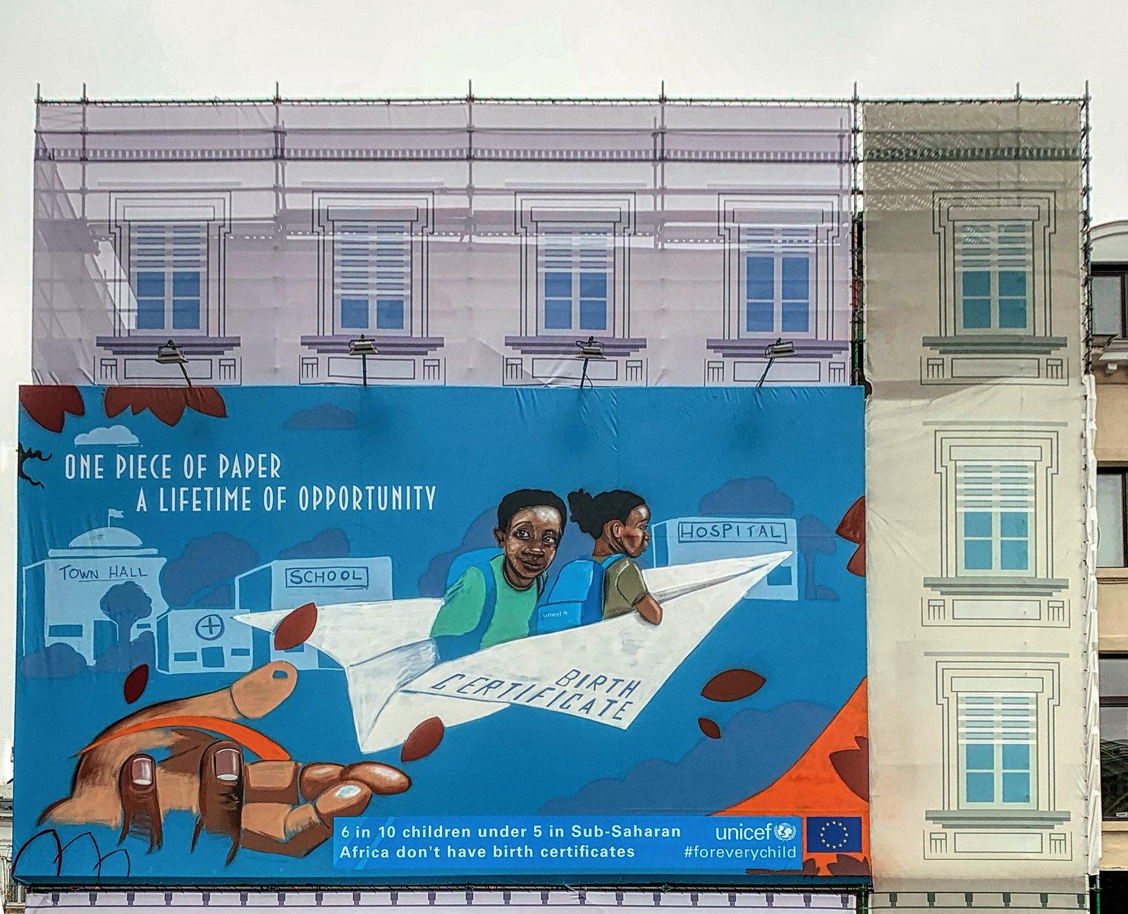 Brussels-Street Art-31 UNICEF #foreverychild